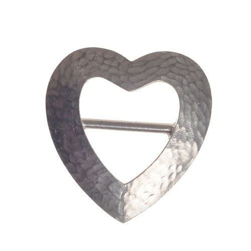 Handmade Pewter Heart Scarf Ring